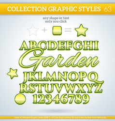 Garden graphic styles for design use for decor vector