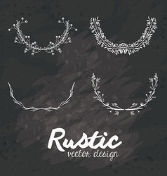 Rustic design vector