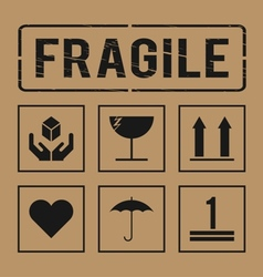 Fragile signs vector