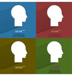 Color set man silhouette profile picture flat vector