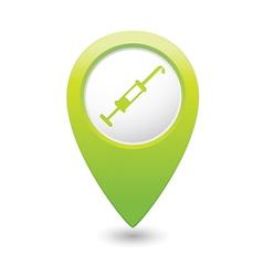 Hospital icon pointer green vector