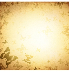 Vintage butterfly grunge background vector