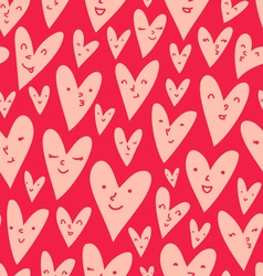 Valentines hearts pattern vector