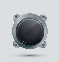 Modern speaker on gray background vector