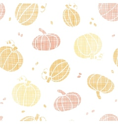 Thanksgiving pumpkins textile seamless pattern vector