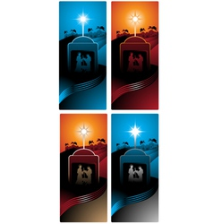 Nativity vertical banners vector