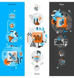 Navigation banner set vector