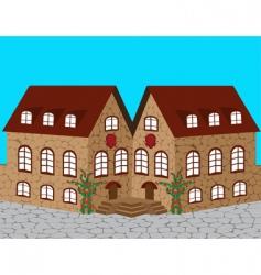 Medieval castle vector
