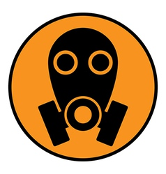 Gas mask sign vector