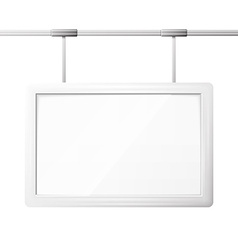 Blank billboard screen vector