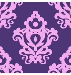 Seamless texture with a classic pattern in violet vector