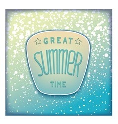 Realistic summer badge vector