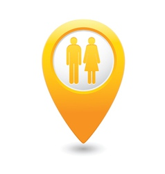 Womenandman map pointer yellow vector