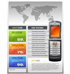Telecom provider flyer vector