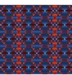 Knitted seamless background in fair isle style vector
