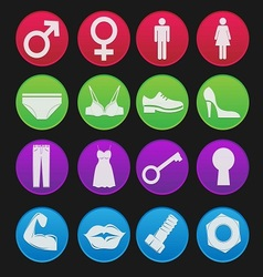 Toilet sign icon gradient style vector