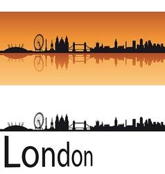 London skyline in orange background vector