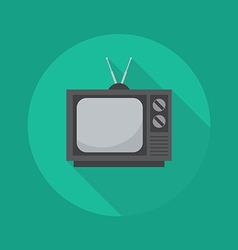 Technology flat icon television vector