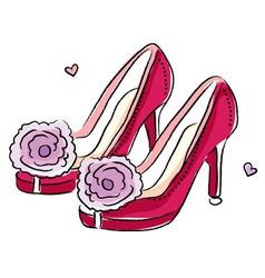 High heel shoes vector