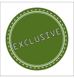 Exclusive icon badge label or sticke vector