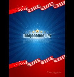 Poster independence day design background vector