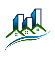 Real estate community logo vector