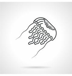 Jellyfish black line icon vector
