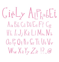 Girly alphabet vector