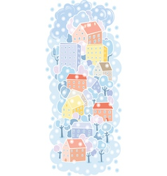 Winter town background vector