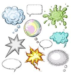 Colored speech bubbles vector