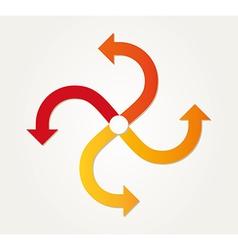 Gradient circle arrows vector
