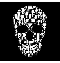 Skull sign vector