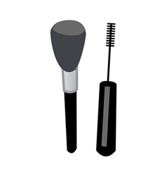 A cosmetic is placed vector