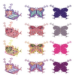 Colorful butterflies set2 vector