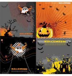 Halloween backgrounds set vector