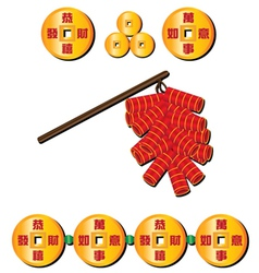 Chinese firecrackers vector