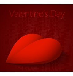 Valentines day background with large red heart vector