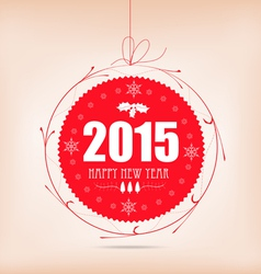 Christmas and happy new year label card vector