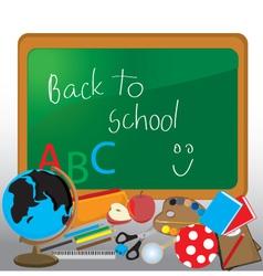 Blackboard classroom vector