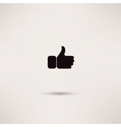 Thumbs up like modern icon flat style vector