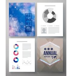 Corporate annual report template vector
