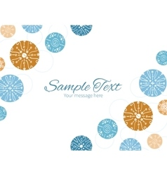 Abstract blue brown vintage circles back vector