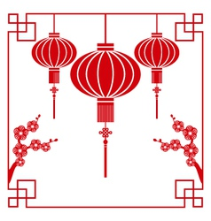 Chinese paper cutting vector