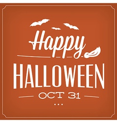Halloween typographic template vector