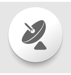 Parabolic antenna icon isolated on white vector