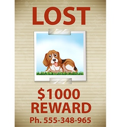 Lost dog vector