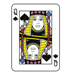 Stylized queen of spades vector