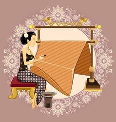 Traditional indonesian batik vector