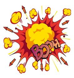 Comic book explosion elements vector
