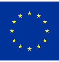 Eu flag in closeup vector